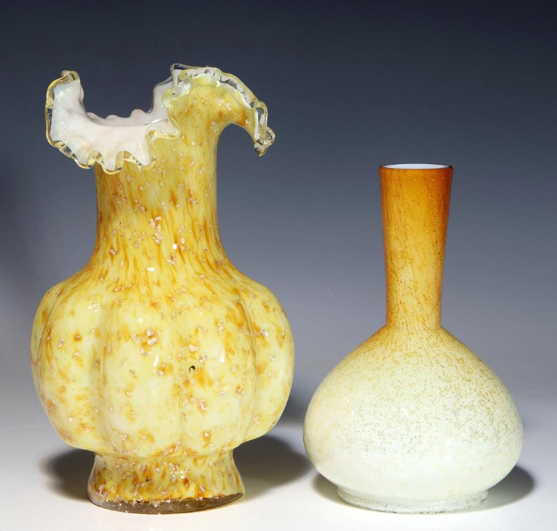 A NICE EXAMPLE OF 19TH C. ART GLASS WITH MICA FLECK - 6