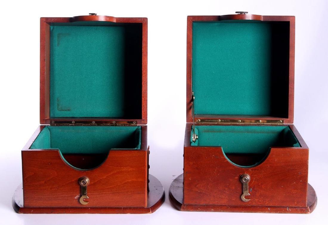 FOUR 20TH CENTURY MAHOGANY CHRONOMETER CASES - 2