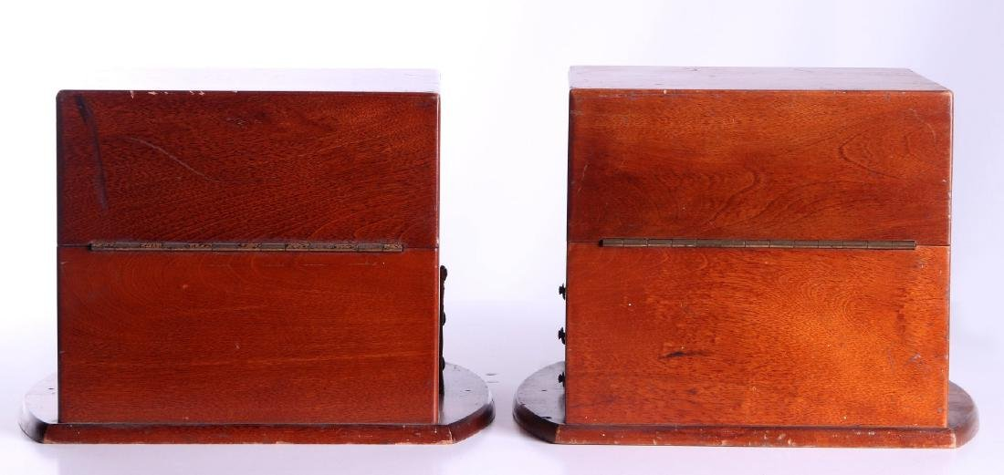FOUR 20TH CENTURY MAHOGANY CHRONOMETER CASES - 3