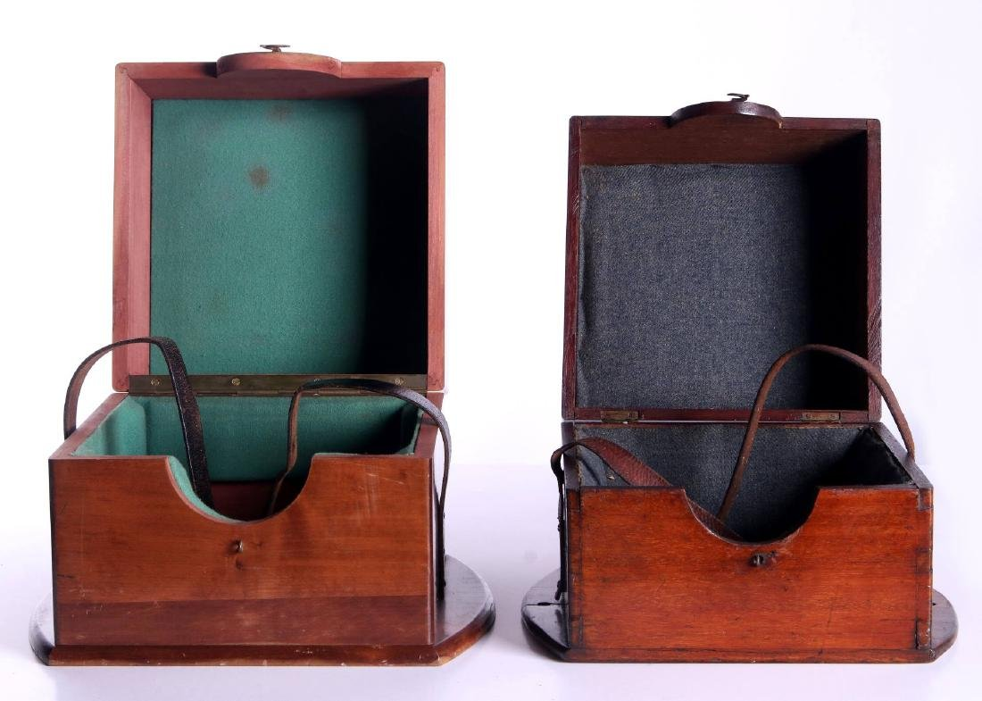 FOUR 20TH CENTURY MAHOGANY CHRONOMETER CASES - 5