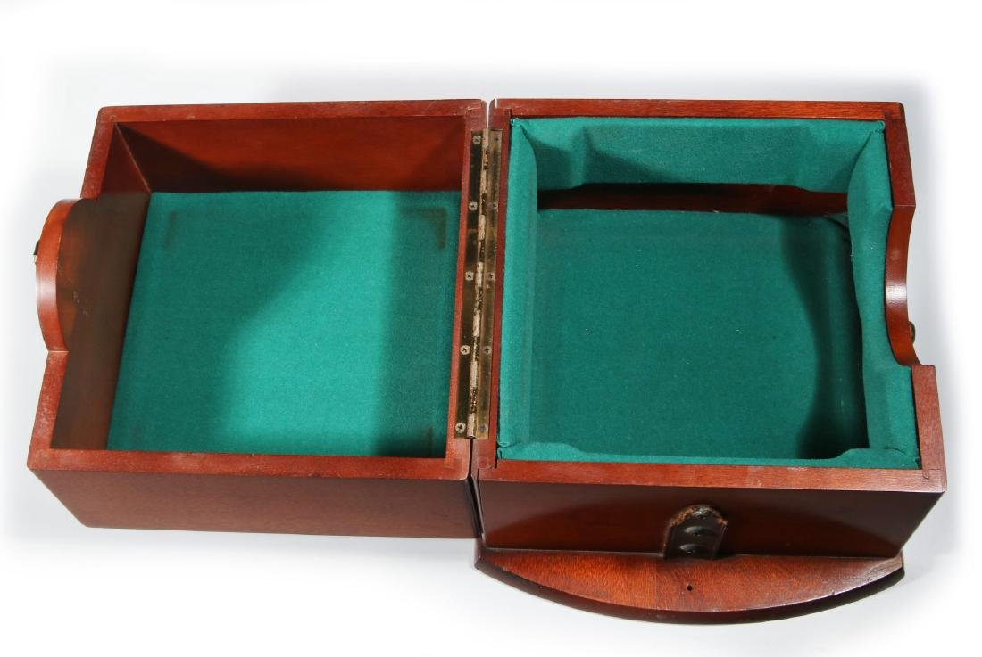 FOUR 20TH CENTURY MAHOGANY CHRONOMETER CASES - 7