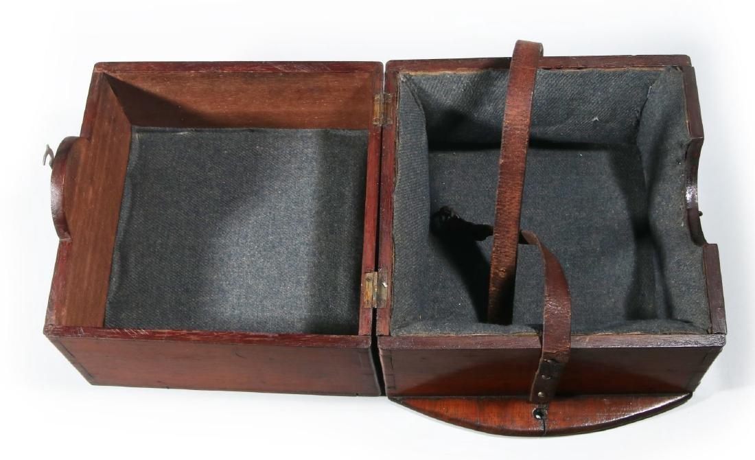 FOUR 20TH CENTURY MAHOGANY CHRONOMETER CASES - 8