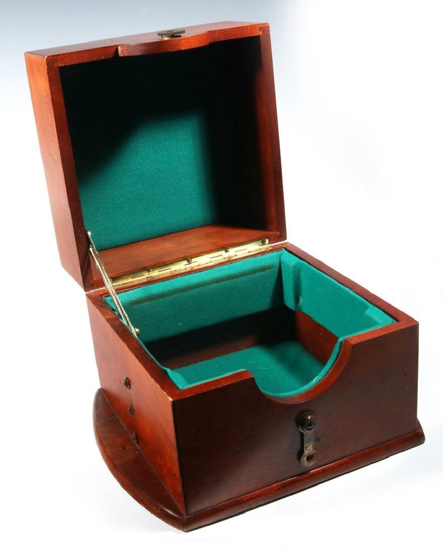 FOUR 20TH CENTURY MAHOGANY CHRONOMETER CASES - 9