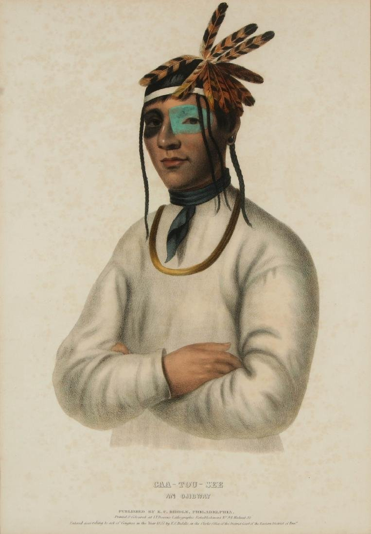 MCKENNEY AND HALL 'CAA-TOU-SEE' HAND COLORED LITHO
