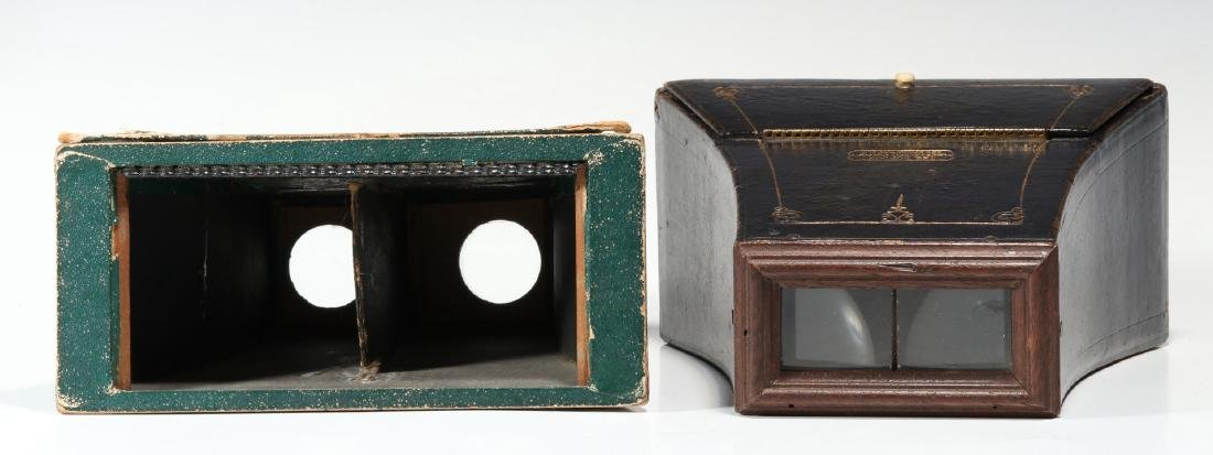 THREE 19TH CENTURY BREWSTER TYPE STEREOSCOPES - 3