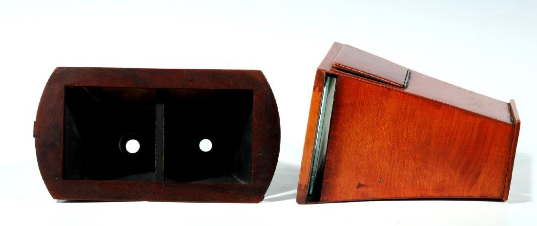 TWO 19TH CENTURY BREWSTER STYLE STEREOSCOPES - 2