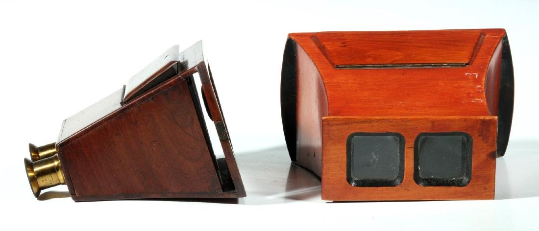 TWO 19TH CENTURY BREWSTER STYLE STEREOSCOPES - 3
