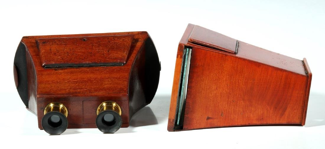 TWO 19TH CENTURY BREWSTER STYLE STEREOSCOPES - 4