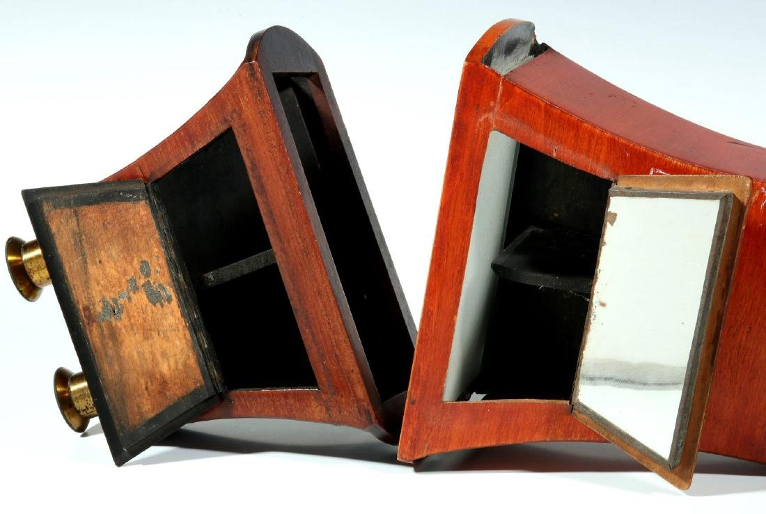 TWO 19TH CENTURY BREWSTER STYLE STEREOSCOPES - 7