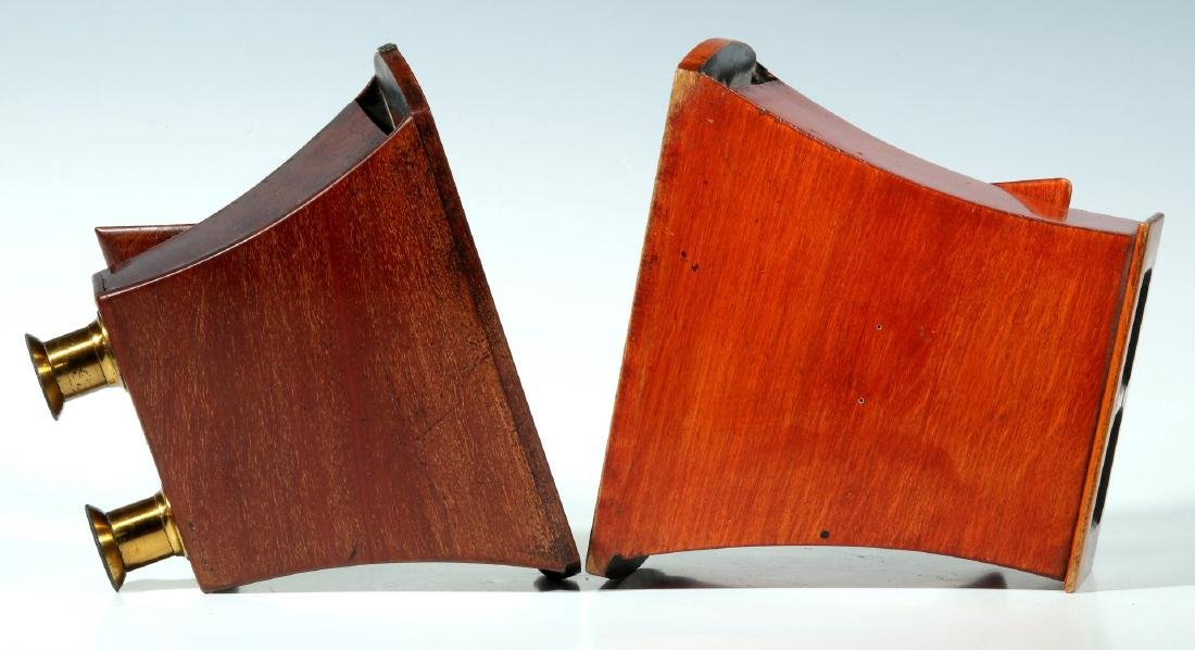 TWO 19TH CENTURY BREWSTER STYLE STEREOSCOPES - 8