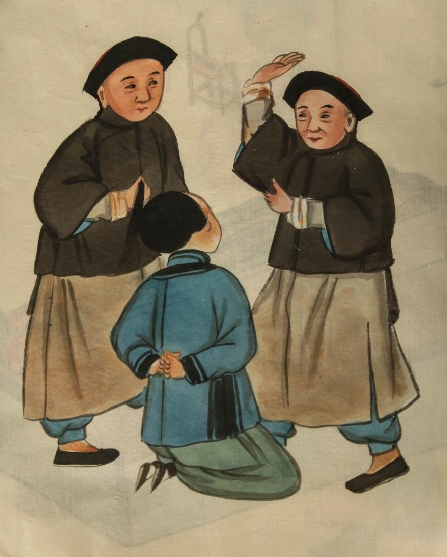 EARLY 20TH CENTURY CHINESE WATERCOLOR PAINTINGS - 6
