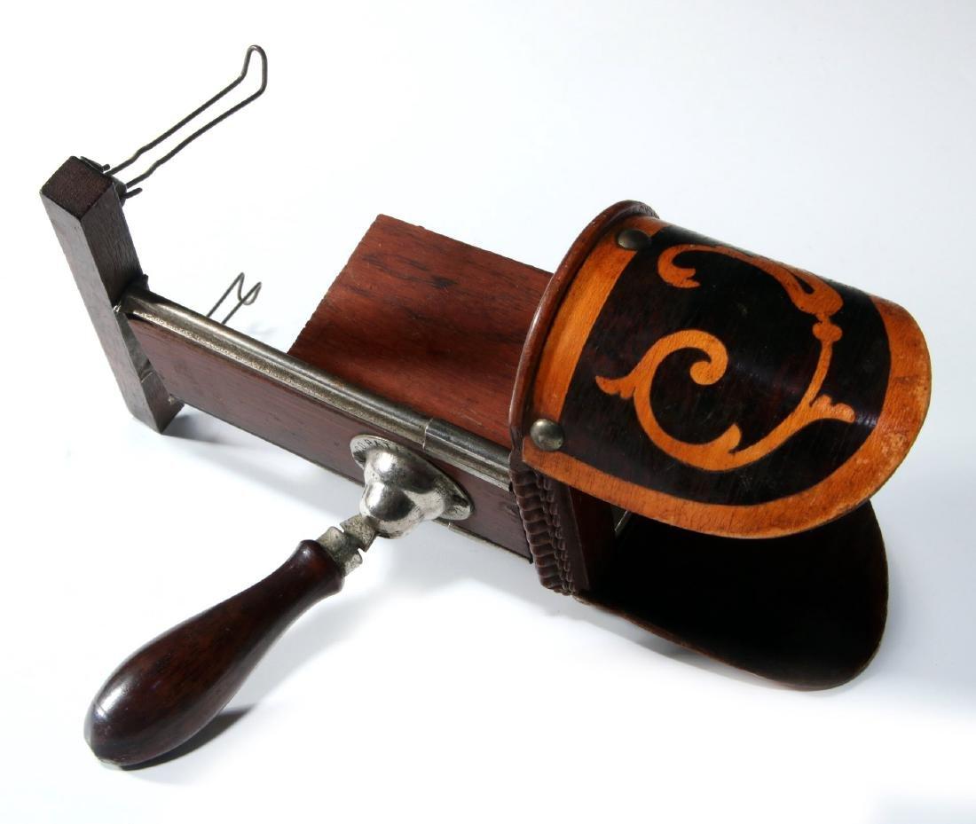 A 19TH CENTURY HAND-HELD STEREOSCOPE - 7