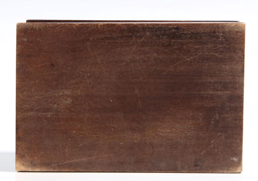 A CIRCA 1900 BLACK FOREST PUZZLE BOX WITH BEAR - 3
