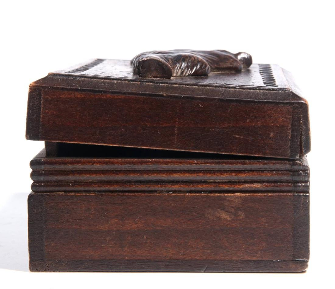 A CIRCA 1900 BLACK FOREST PUZZLE BOX WITH BEAR - 4