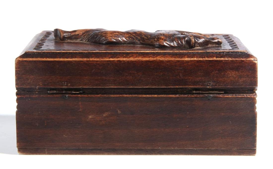 A CIRCA 1900 BLACK FOREST PUZZLE BOX WITH BEAR - 5