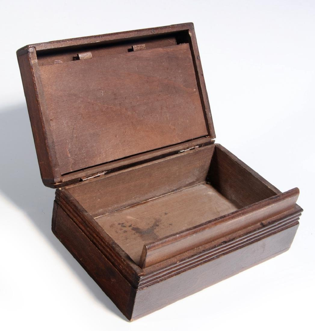 A CIRCA 1900 BLACK FOREST PUZZLE BOX WITH BEAR - 6