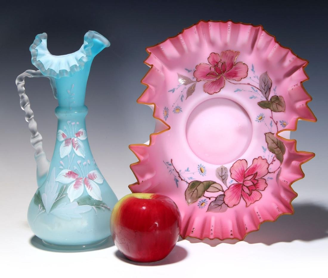 TWO PIECES OF 19TH CENTURY  VICTORIAN ART GLASS - 2