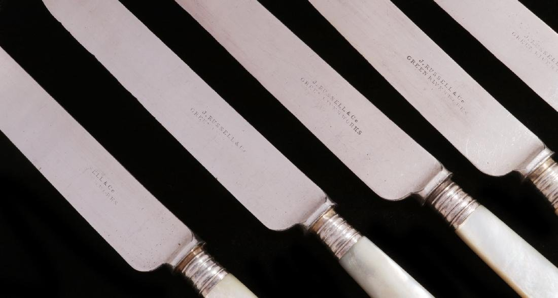 TWENTY FIVE PCS PEARL HANDLED KNIVES AND SPOON - 9