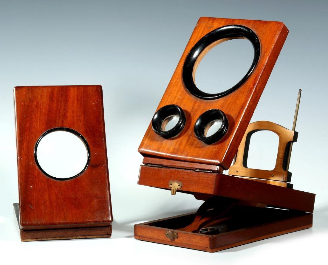 TWO 19TH CENTURY FOLDING GRAPHOSCOPES