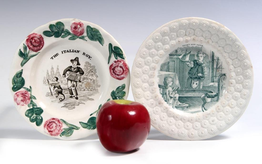 TWO 19TH CENTURY STAFFORDSHIRE CHILDREN'S PLATES - 2