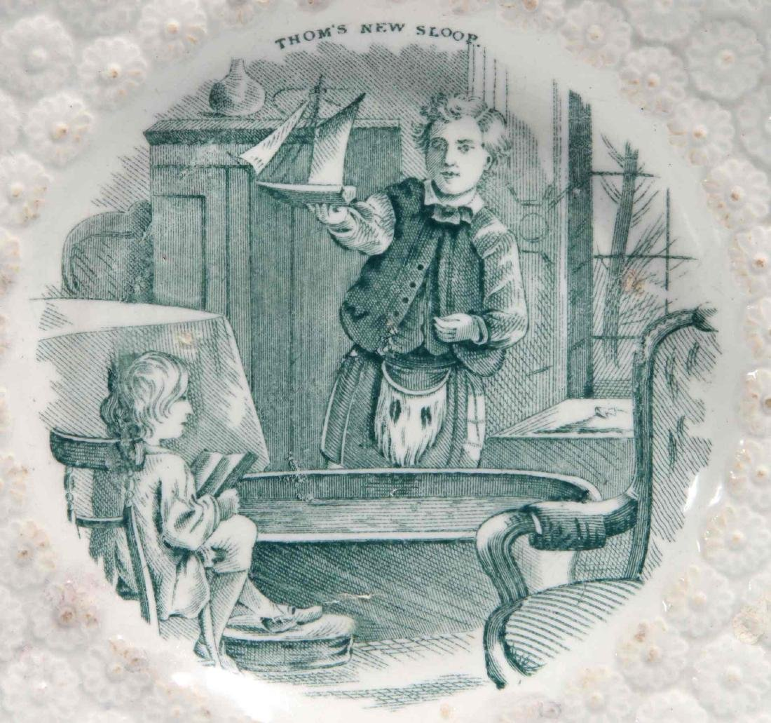 TWO 19TH CENTURY STAFFORDSHIRE CHILDREN'S PLATES - 5
