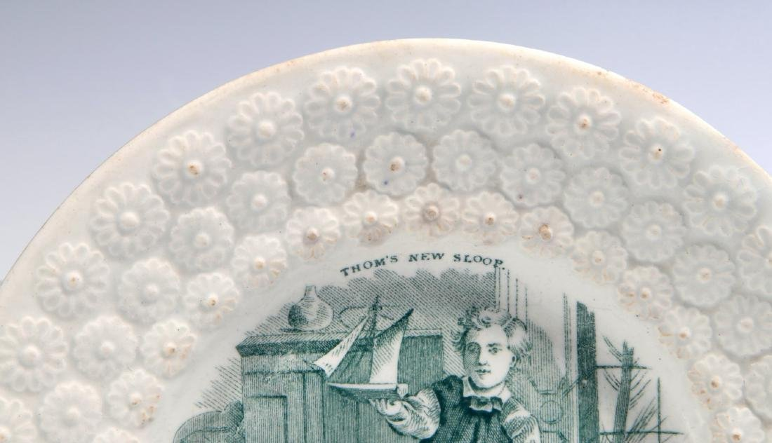 TWO 19TH CENTURY STAFFORDSHIRE CHILDREN'S PLATES - 6