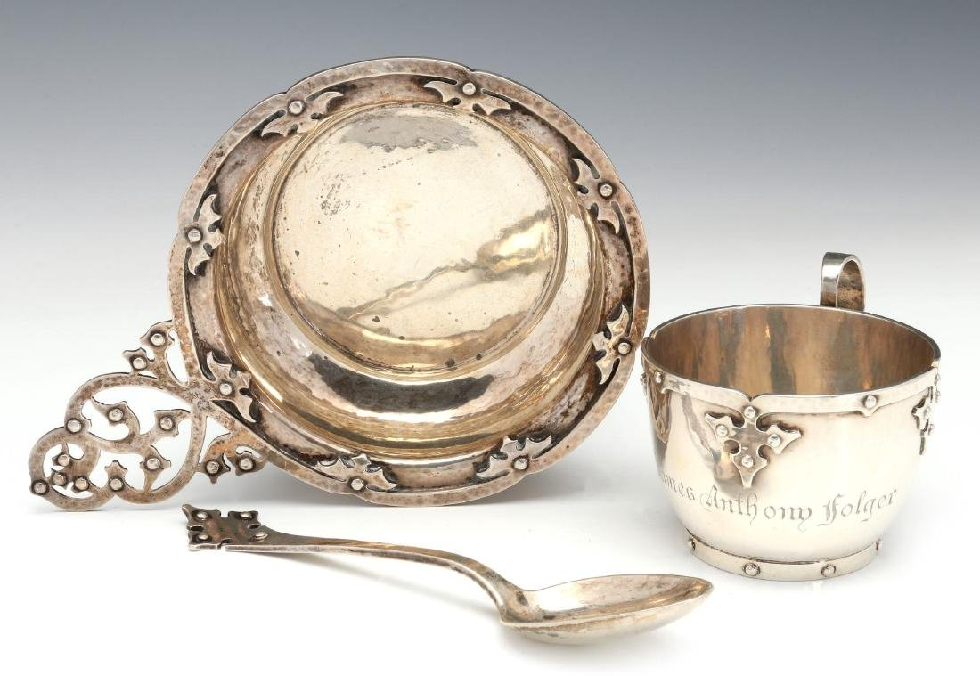SHREVE & CO 14TH CENTURY PATTERN STERLING ARTICLES
