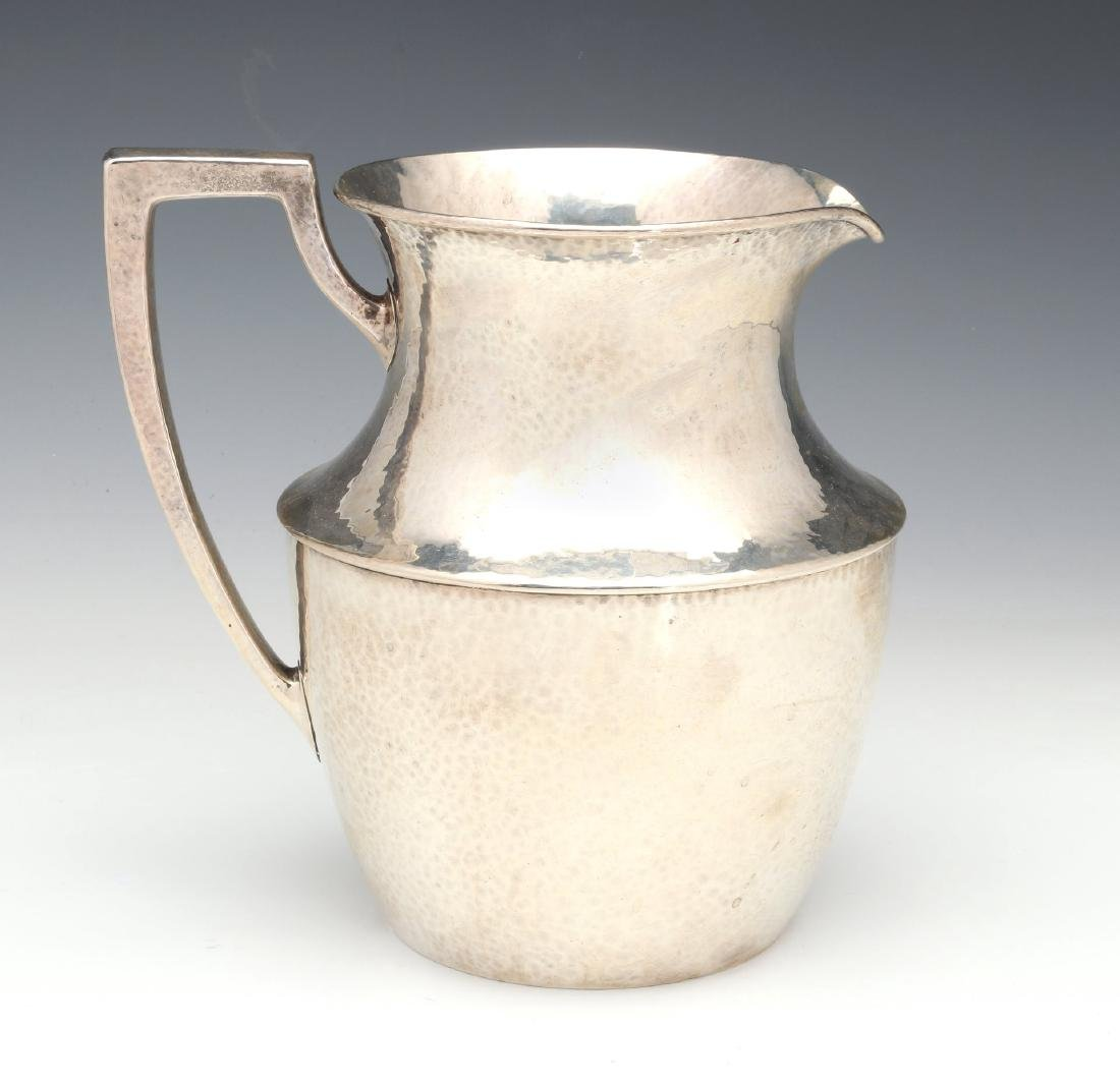 SHREVE & CO HAMMERED STERLING SILVER PITCHER 1921