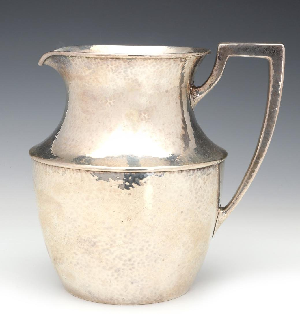 SHREVE & CO HAMMERED STERLING SILVER PITCHER 1921 - 6