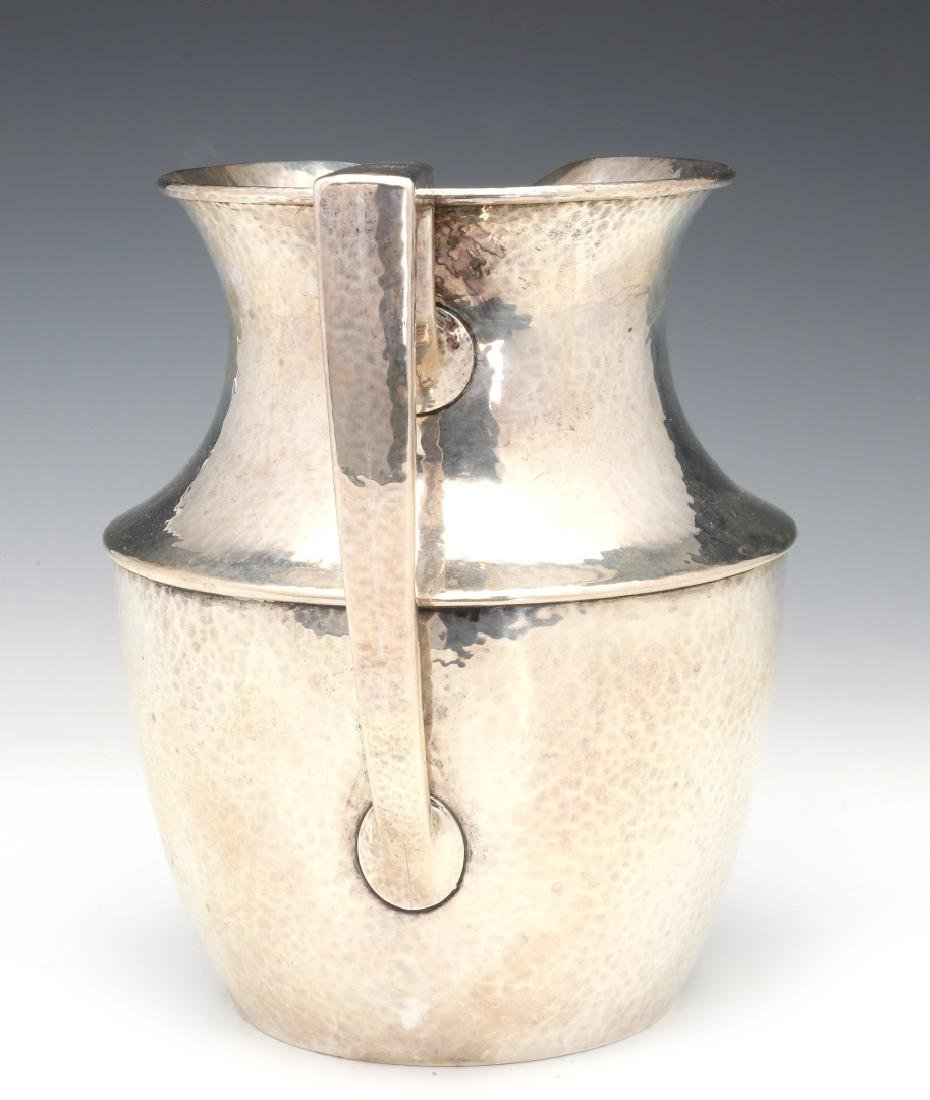 SHREVE & CO HAMMERED STERLING SILVER PITCHER 1921 - 7
