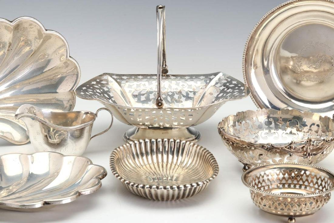AN ESTATE LOT OF GOOD STERLING SILVER ARTICLES - 5