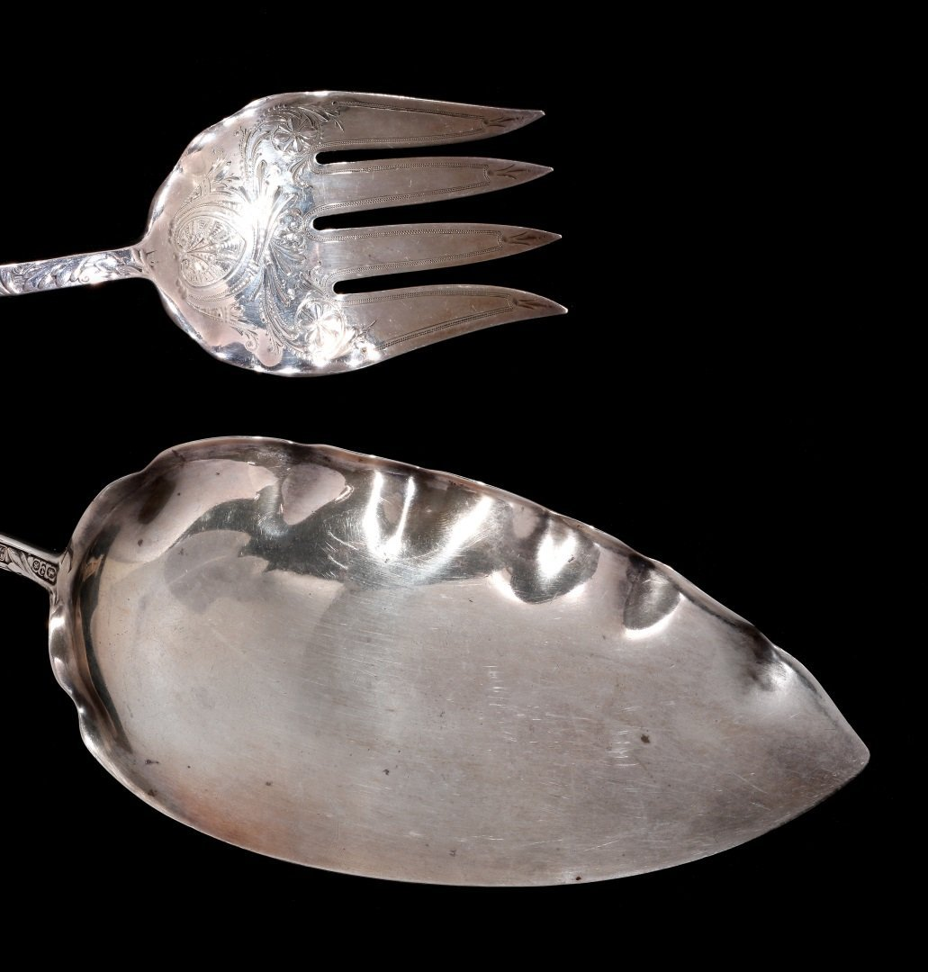 A GORHAM ST. CLOUD PATTERN STERLING FISH SET - 6