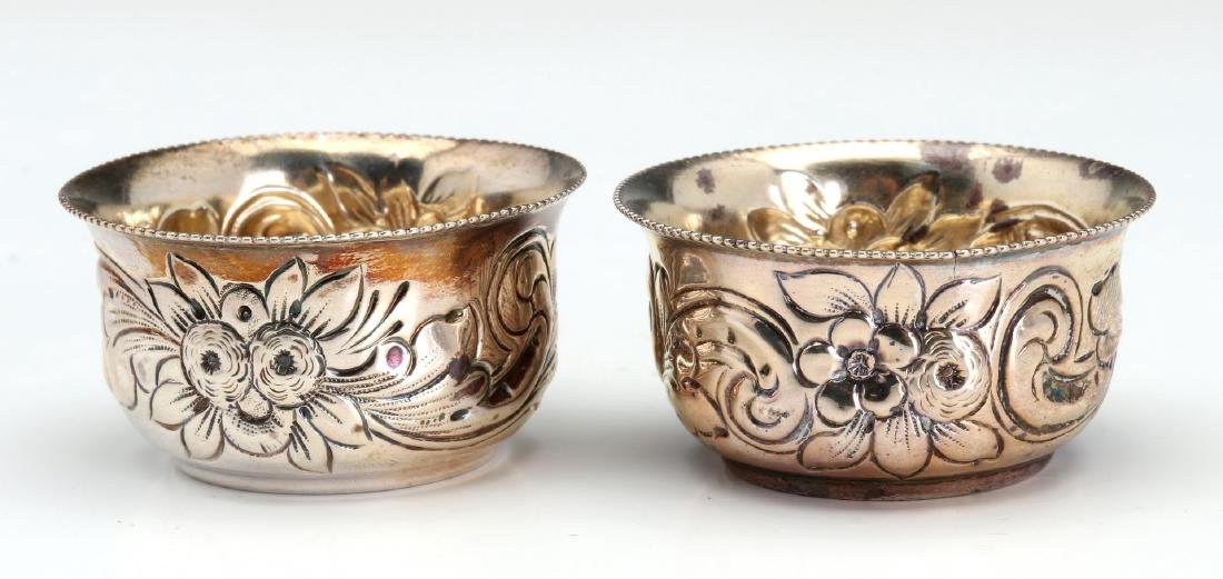 GEO C. SHREVE STERLING SILVER REPOUSSE SHAKERS - 6