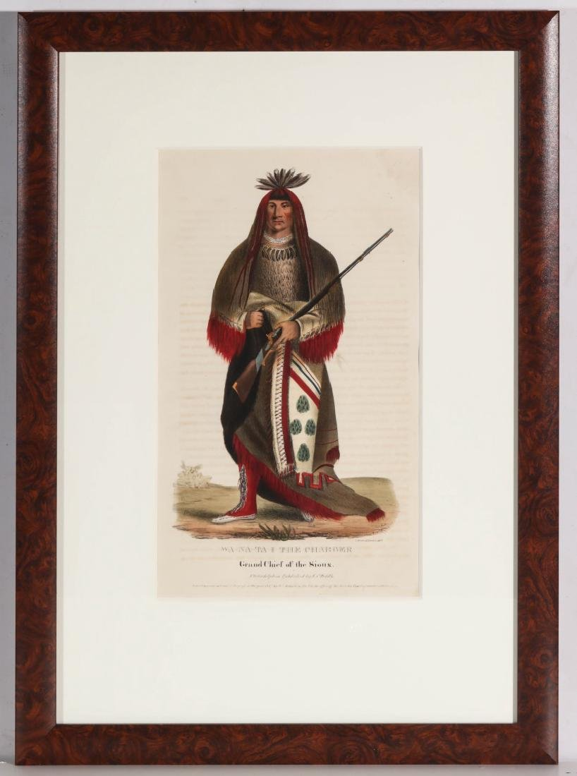WA-NA-TA GRAND CHIEF OF THE SIOUX LITHO CIRCA 1840 - 2