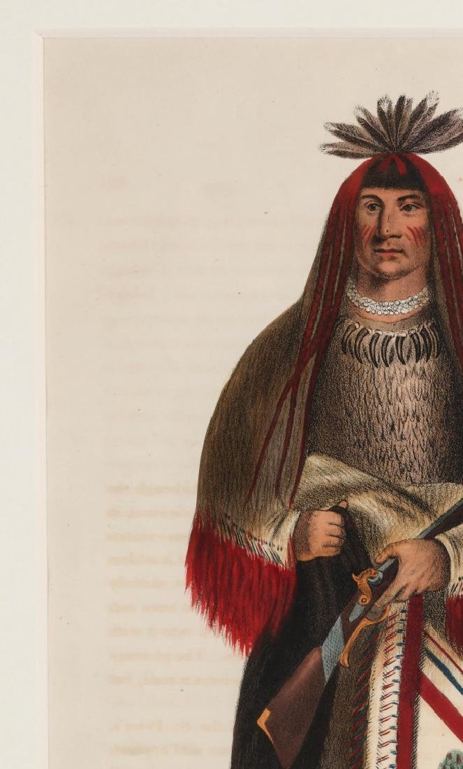 WA-NA-TA GRAND CHIEF OF THE SIOUX LITHO CIRCA 1840 - 3