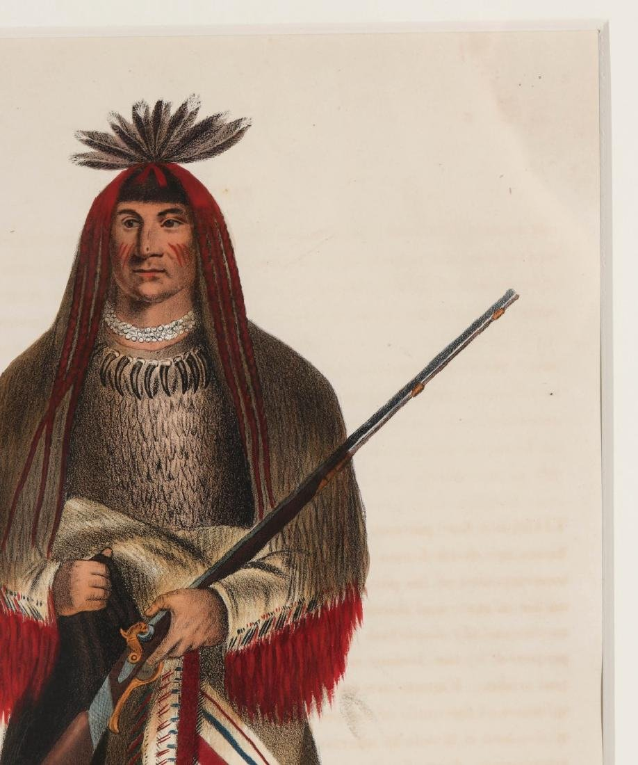 WA-NA-TA GRAND CHIEF OF THE SIOUX LITHO CIRCA 1840 - 4