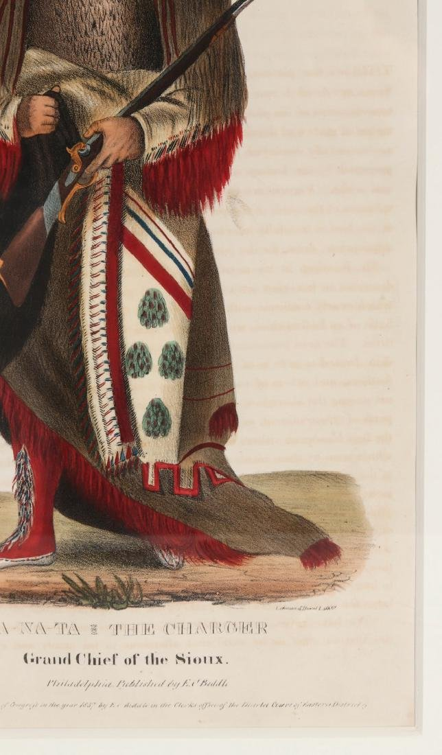 WA-NA-TA GRAND CHIEF OF THE SIOUX LITHO CIRCA 1840 - 5