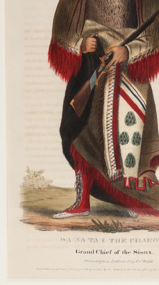 WA-NA-TA GRAND CHIEF OF THE SIOUX LITHO CIRCA 1840 - 6