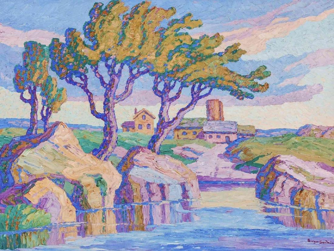 BIRGER SANDZEN (1871 - 1954) OIL ON CANVAS, 1935