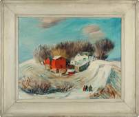 DEWEY ALBINSON (1898-1971) OIL ON CANVAS