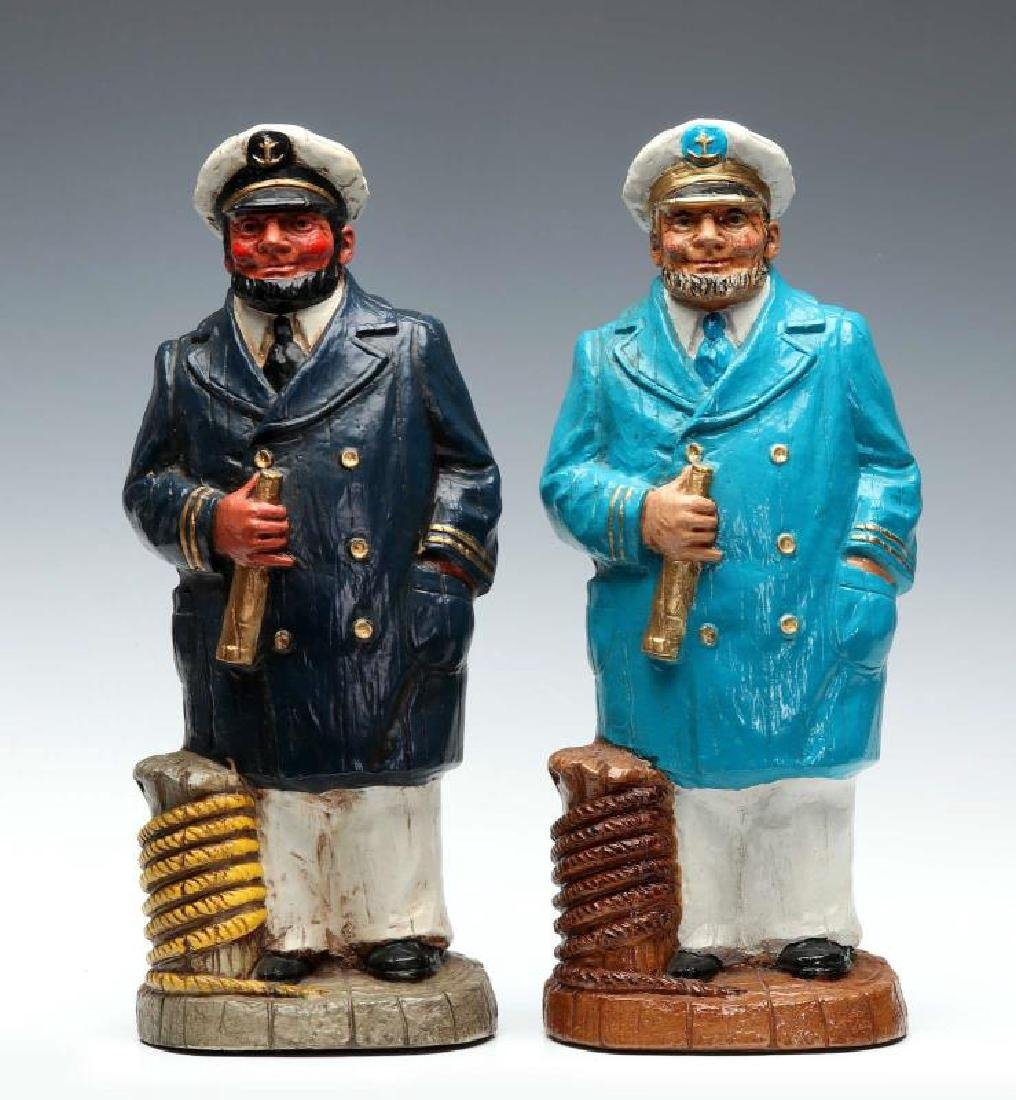 A PAIR OF SYROCO WOOD SEA CAPTAIN FIGURES