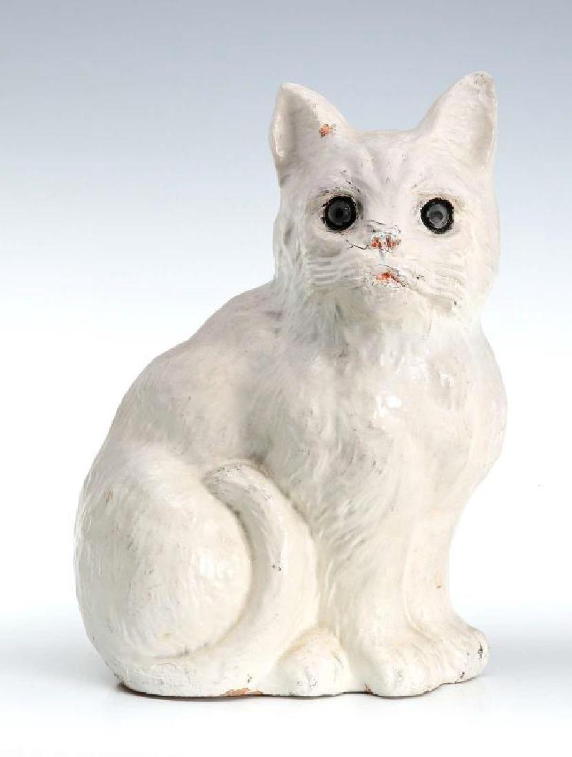 A MID-20TH C. SYROCO WOOD CAT FIGURE