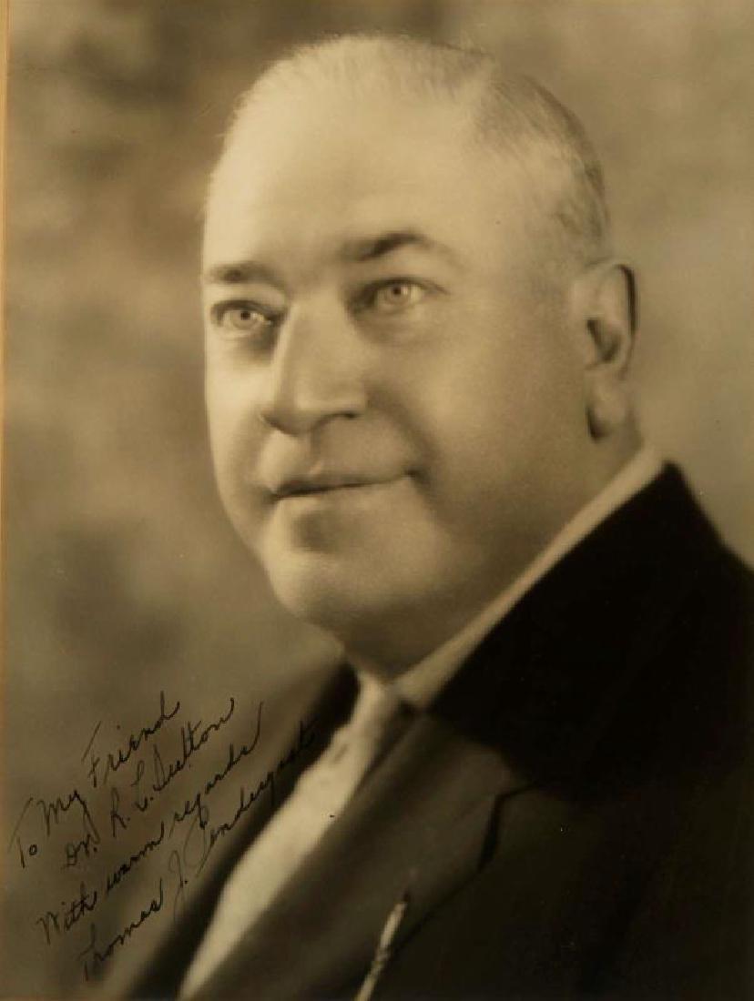 SIGNED PHOTOGRAPH OF THOMAS J PENDERGAST