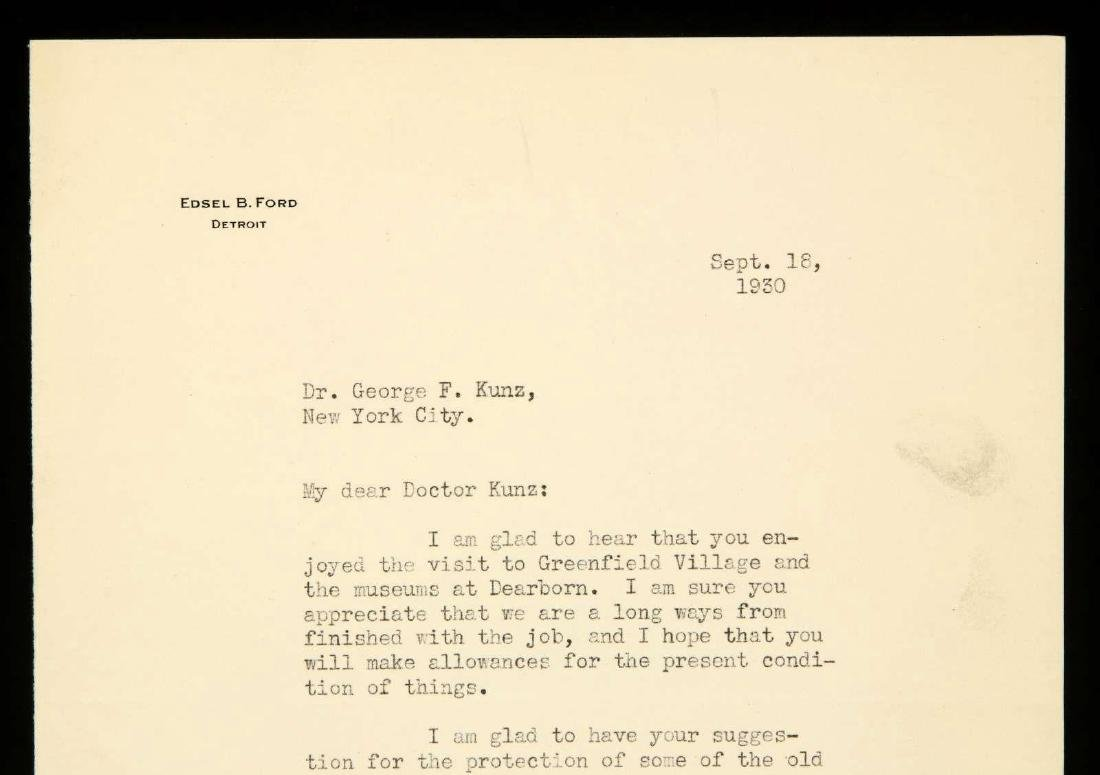 SIGNED TYPED LETTER BY EDSEL FORD - 2