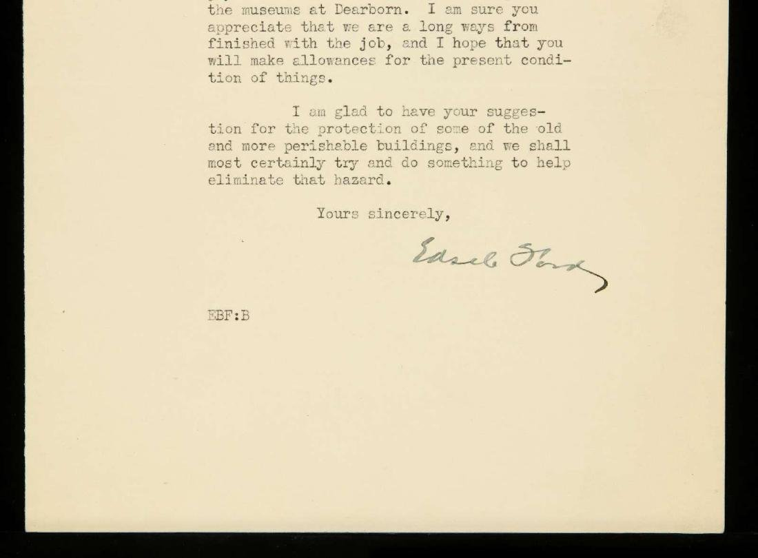 SIGNED TYPED LETTER BY EDSEL FORD - 3
