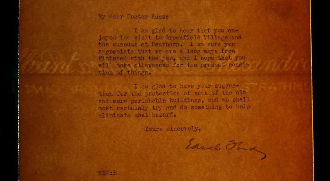 SIGNED TYPED LETTER BY EDSEL FORD - 7
