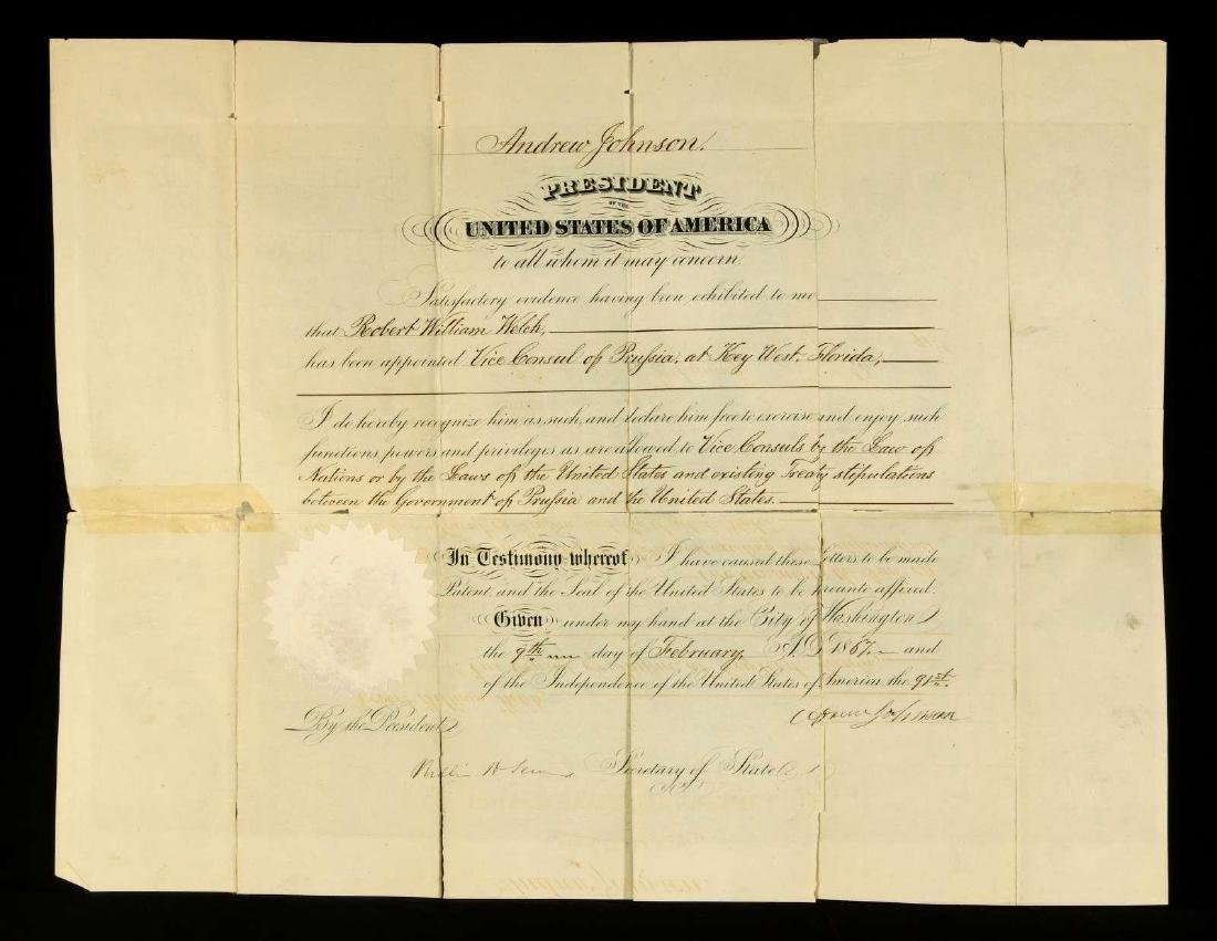 SIGNED DECLARATION BY ANDREW JOHNSON