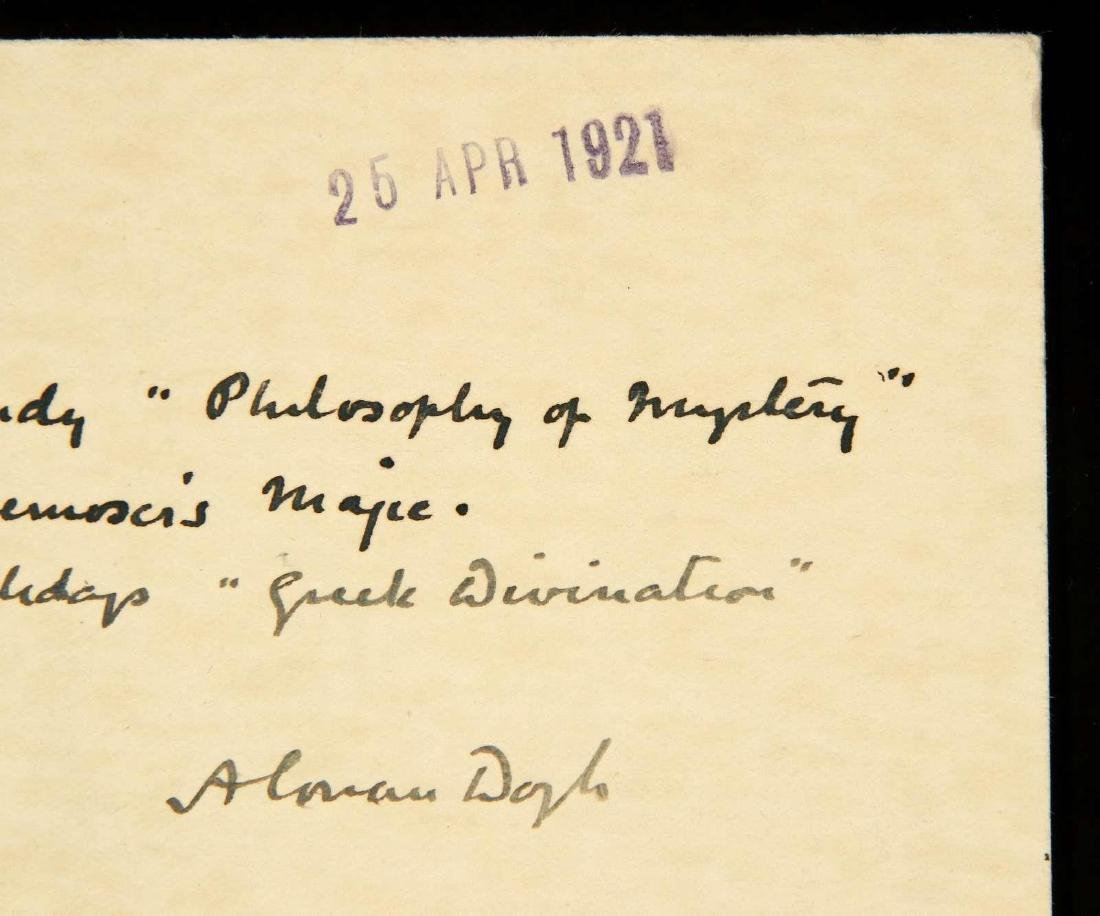 HANDWRITTEN POSTCARD BY ARTHUR CONAN DOYLE - 3
