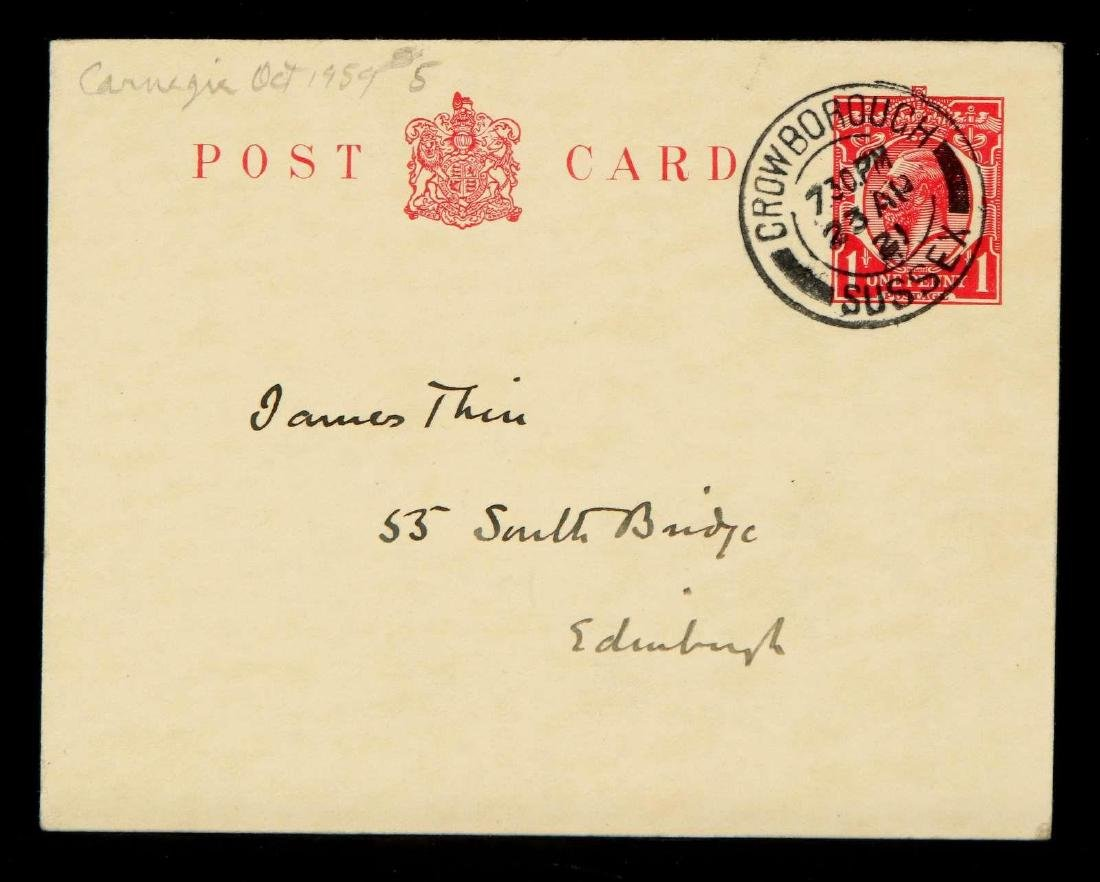 HANDWRITTEN POSTCARD BY ARTHUR CONAN DOYLE - 4