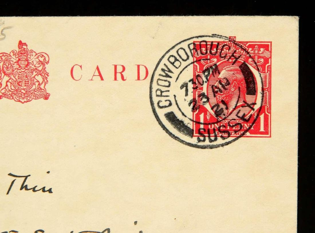 HANDWRITTEN POSTCARD BY ARTHUR CONAN DOYLE - 6